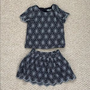 NWOT Genuine Kids skirt and top set